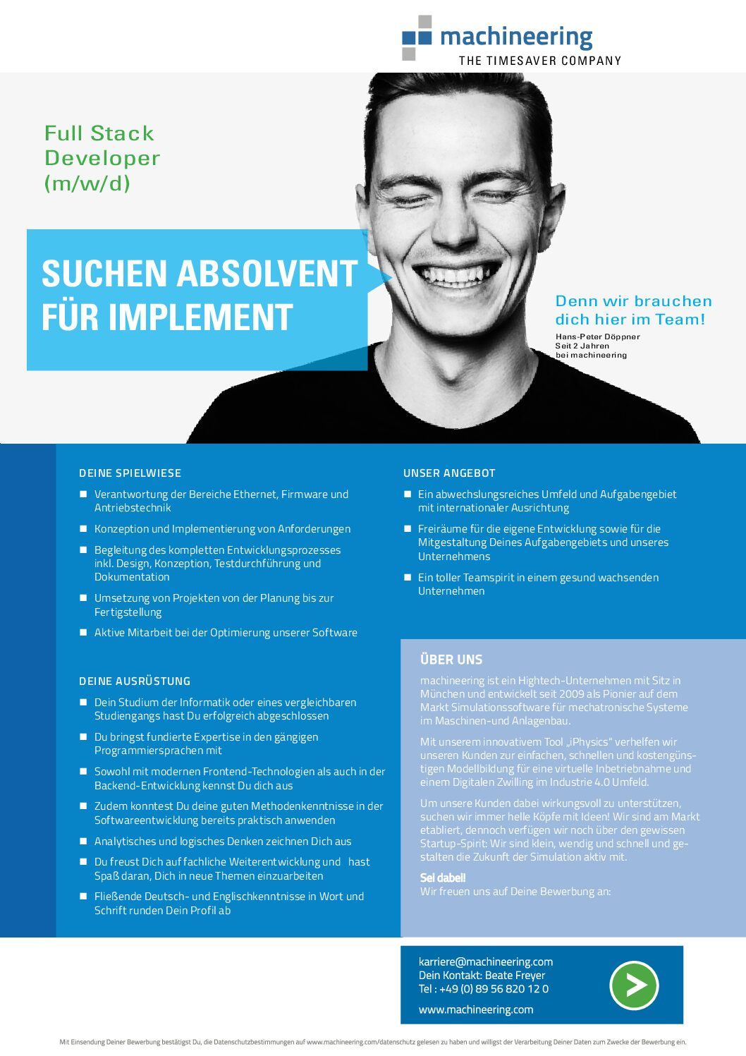 Full Stack Entwickler/in (m/w/d) Simulationssoftware